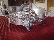 Jardiniere mit Glaseinsatz 800er Silber