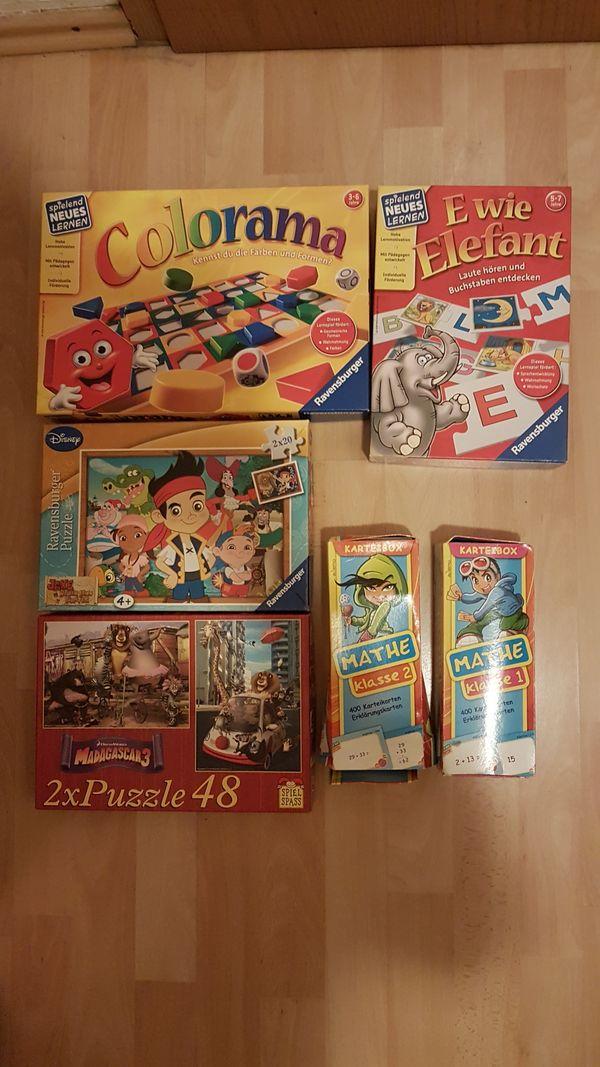 Kinder Spielesammlung Puzzle Karten lernspiel