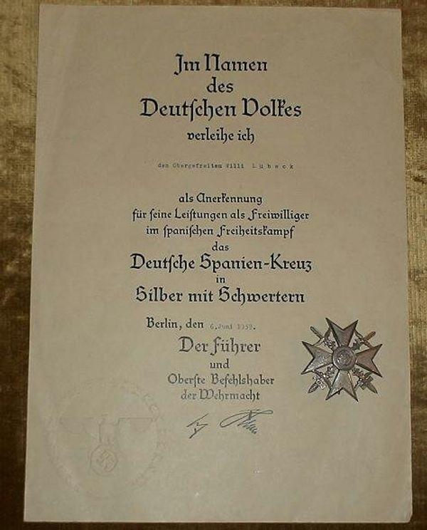 Spanien Kreuz aus Wk2 - Berlin Prenzlauer Berg - Verkaufe Spanien Kreuz aus Wk2. Zustand original. - Berlin Prenzlauer Berg
