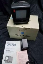 Vintage Sony Indextron WatchCube KVX-370