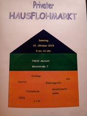 Hausflohmarkt 19 10 2019