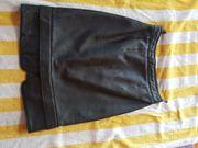 Lederrock schwarz echt Damenrock Rock
