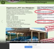 Doppelcarport zu verkaufen