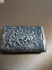 Streichholzschachtel Silber Antik