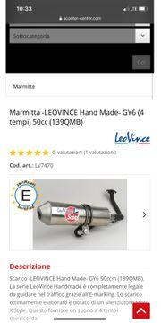 leo vince Auspuff 50 cc