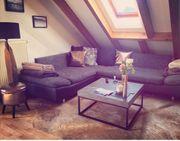 Sofa Couch grau-schwarz zu verkaufen