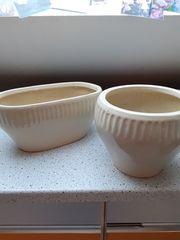 Keramikübertöpfe 2 Stück Handarbeit