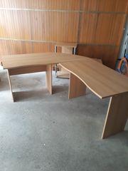 Schreibtisch Eckkombination in Buche