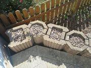 66 Stück Beton Mauer Pflanzsteine