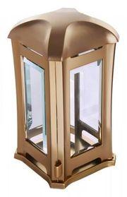 Grablampe Venezia bronzefarben Grablaterne Grablicht