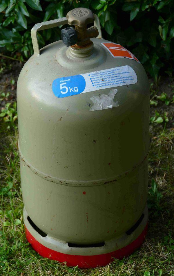 Camping-Gasflasche grau, 5 kg, leer