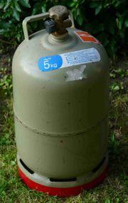Camping-Gasflasche grau 5 kg leer