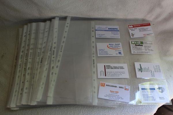 60 Stück Leitz Visitenkartenhülle Universallochung