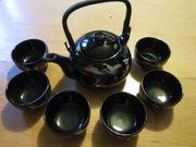 Asien - Teeservice - Kanne 6 Teeschalen -
