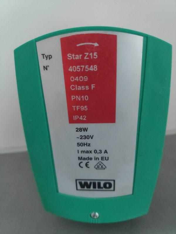 Wilo Trinkwasser Zirkulationspumpe Star-Z 15