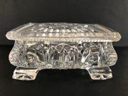 Antike Glasschatulle Schmuckschatulle