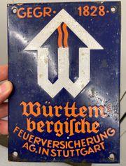Emailleschild Württembergische Feuerversicherung
