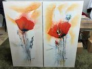2x Leinwand Gemälde Marthe Acrylfarbe