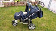Kinderwagen Marineblau Gelb