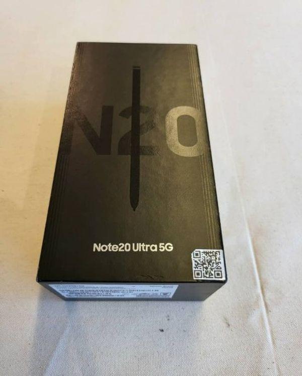 Samsung Galaxy Note20 Ultra 5G SM-N986B/DS - 256GB - Mystic Black Ohne Simlock