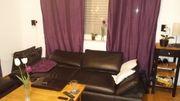 Echtleder Sofa Couch und Hocker