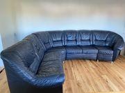 Echt Leder Couch L Form