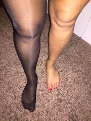 Nylon Heels und Stiefel