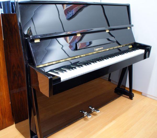 Klavier gebraucht Lippmann schwarz pol