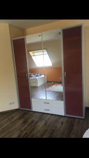 Schlafzimmermöbel Kleiderschrank Kommode und Bücherregal