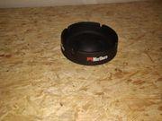5 Marlboro Aschenbecher schwarz Keramik