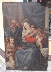 Barock Öl Gemälde Heilige Familie