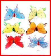 6x Schmetterling 3D Deko-SCHMETTERLING - 10cm