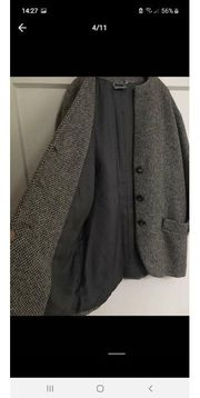 Mantel aus Wolle Gr 40