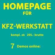 KFZ-Werkstatt Smart-Repair Homepage Webseiten Demos online