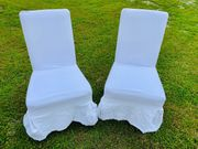 4 Stk Stuhlüberzüge aus weißem