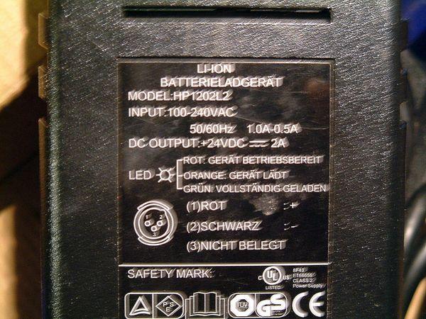 E-BIKE -LADEGERÄT