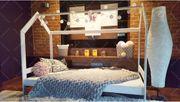 Hausbett Milos Kinderbett Hölzernes Bett-Haus