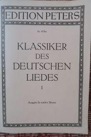 Gesangsnoten Klassiker des Deutschen Liedes