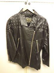 Schicke schwarze Leder Jacke mit