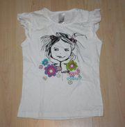 Mädchen Kurzarm T-Shirt Girl Kinder