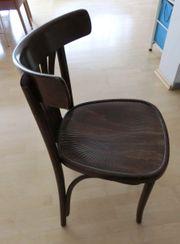 4 Bistro Stühle Holz dunkel