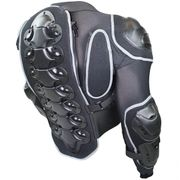 Motorrad Protektorenjacke schwarz grau