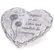 Grabschmuck Herz mit Inschrift Begrenzt
