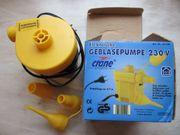 Elektrische Gebläsepumpe 230 V zum