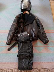 Motorrad - Leder Jacke und Hose