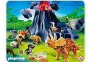 Playmobil Triceratops mit Vulkan und