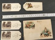 Alte Postkarte und 3 1