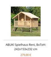 ABUKI Spielhaus Reni BxTxH 242x153x232