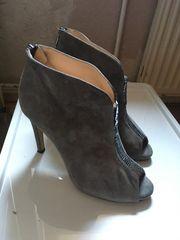 high heels grau Wildleder