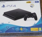 Playstation 4 Slim in Schwarz